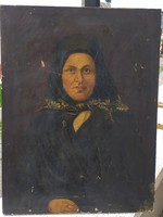 Nagyon régi női portré.