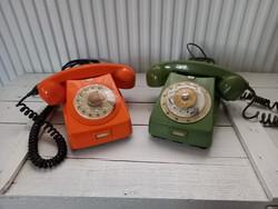 Retro zöld tárcsás telefon