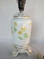 Drasche porcelán sárga virágos lámpa