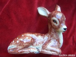 Izsépy Margit: Bambi / nagy méret /      Mázas kerámia     16x16 cm
