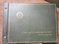 1959.1.NDK Vadászati kiállítás hivatalos fotó albuma. 35 profi valódi fotóval!