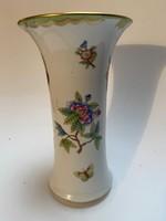 Herendi váza, Viktória mintás, 21 cm