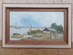 Halász tanya Olaj-vászon festmény