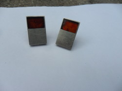 Marcin Zaremski designer art deco ezüst mandzsetta gomb pár