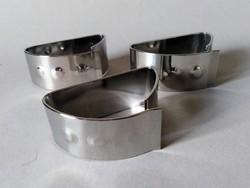 3db ritka Zepter design acél szalvétagyűrű, 2000-es évek