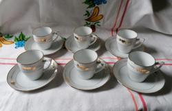 Kínai kávés mokkás 6db-os készlet (csésze+alj)