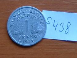 FRANCIA 1 FRANC FRANK 1942 VICHY ALU. S438
