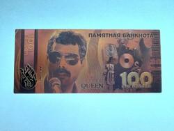 Új - aranyozott plasztik QUEEN 100 rubel