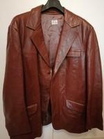 Retró férfi bőr kabát