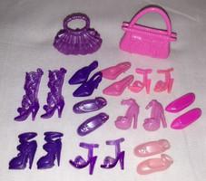 Barbie baba cipő  10pár + 2db táska