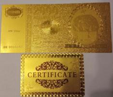 24 karátos aranyozott 2000 forint