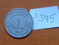 FRANCIA 1 FRANC FRANK 1947 B  (Beaumont-le Roger) ALU.  S375