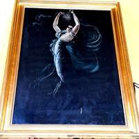 P. Rjábov (orosz) festőművész – Táncosnő című festménye – 147.