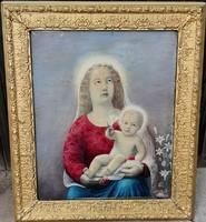 Szabó Béla Leó festőművész – Mária a gyermek Jézussal című festménye – 145.