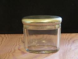Antik pipere üveg 950-es jelzett ezüst tetővel