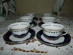 Zsolnay Pompadur kávés készlet.