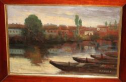 GARANTÁLTAN EREDETI MARKÓ ERNŐ  / 1868 -1945/ VÁROSKÉP