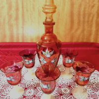 Bohemia cseh kristályüveg pohárkészlet