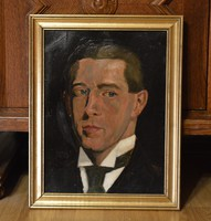 GELLÉRT Imre (1887-1981) festmény, 1914., olaj karton, 39 x 30 cm, jbk. Gellért 1914