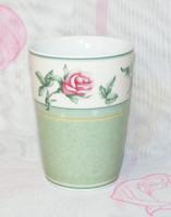 Hutschenreuther rózsás porcelán pohár
