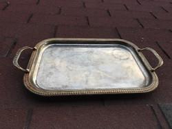 Antik fém tálca ( nagy méretű)