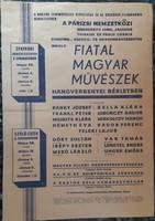 FIATAL MAGYAR MŰVÉSZEK HANVERSENYEI BÉRLETBEN   1957   PLAKÁT