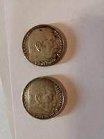 2 darab ezüst pénz egyben