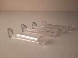 4 db Art Deco csiszolt üveg késbak