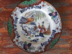 Keleti mintás antik fajansz tányérok 2 db