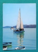 Balaton,vitorlás,használt képeslap,1976