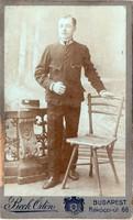 Katona vizitkép, Beck Ödön Bp (1896-1929), 311 a sapkán, sapkajelvény