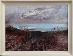 Teljes hagyaték aukción! Nagy méretű Pogány Géza (1927-2001) olaj,farost festmény! Gyönyörű 1 Ft-ról