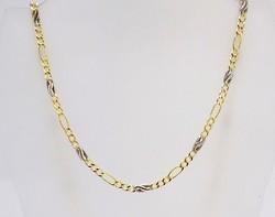 Sárga-fehér arany nyaklánc (ZAL-Au98067)