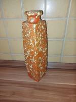 Kerámia tófeji narancs színű váza 31 cm
