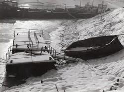 Jeges árvíz Amatőr művészkép, jelöletlen 12x9 cm 3 db