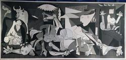 Picasso: Guernica, a művész jelenlétében készült nyomat