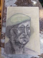 Színes portré ceruza rajz