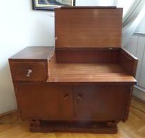 Retro bútorkülönlegesség! Felhajtható fedlapú, Art deco tárolószekrény