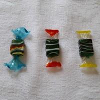 Muránói üveg szaloncukrok