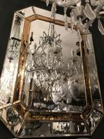 Art deco stílusú tükör borostyán színű berakással