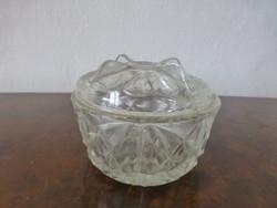 Antik metszett üveg cukortartó