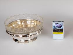 Ezüst üveges asztalközép/kínáló