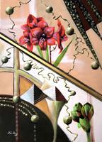 Arany középút - modern festmény - akril/vegyes technika