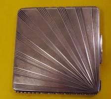 Art deco ezüst pudrié, puder kompakt eladó, brutto 91,6 g