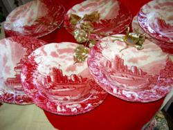 6b db Régi kastély angol tányér
