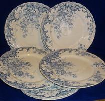 Sarreguemines fajansz  tányérok Fleury dekorral.
