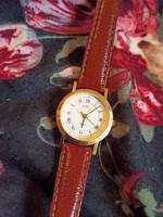 Royal svájci Eta szerkezetes pici quartz óra bőr szíjas női férfi uniszex