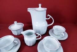 Hollóházi teáskészlet 6 személyes artdeco
