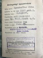 1963-as betegségi igazolvány
