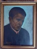 Orosz J. Jelzéssel olaj portré